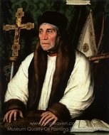 Portrait of William Warham, Archbishop of Canterbury painting reproduction, Hans Holbein, The Younger