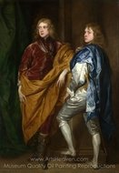 Portraits of Two Young Englishmen painting reproduction, Sir Anthony Van Dyck