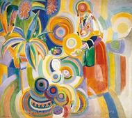 Portuguese Woman painting reproduction, Robert Delaunay