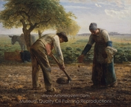 Potato Planters painting reproduction, Jean-Francois Millet