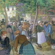 Poultry Market at Gisors painting reproduction, Camille Pissarro