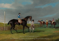Preparing to Start for the Doncaster Gold Cup painting reproduction, John Frederick Herring Sr.