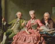 Presumed Portrait of the Duc de Choiseul and Two Companions painting reproduction, Jacques Wilbaut