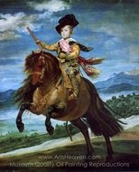 Prince Balthasar Carlos on Horseback painting reproduction, Diego Velazquez