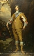 Prince Charles Louis, Count Palatine painting reproduction, Sir Anthony Van Dyck