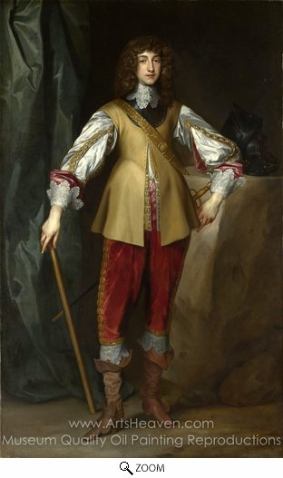 Sir Anthony Van Dyck, Prince Rupert, Count Palatine oil painting reproduction