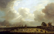 Princess Charlotte Arriving at Harwich, September 1761 painting reproduction, Dominic Serres