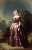Princess Maria Carolina Augusta of Bourbon painting reproduction, Franz Xavier Winterhalter
