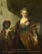 Princess Rikoczi painting reproduction, Nicolas De Largilliere