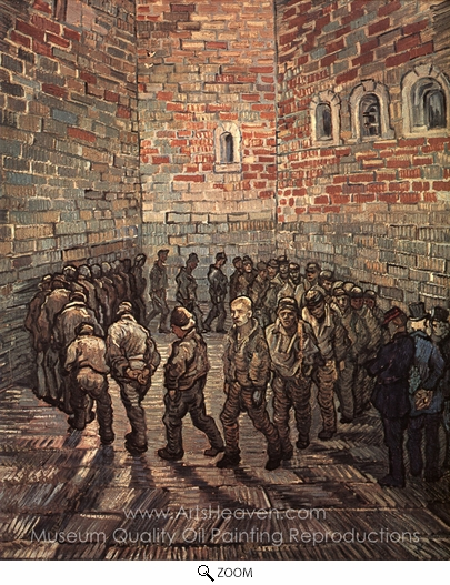 Vincent Van Gogh, Prisoners Exercising (after Gustave Dore) oil painting reproduction