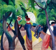 Promenade painting reproduction, August Macke