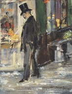 Promeneur painting reproduction, �douard Manet