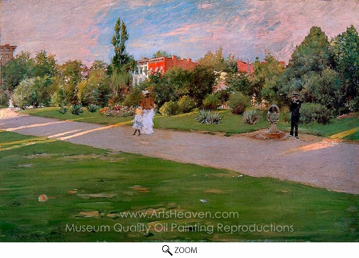 William Merritt Chase, Prospect Park, Brooklyn oil painting reproduction