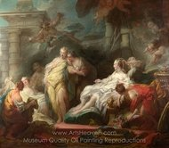 Psyche Showing Her Sisters Her Gifts from Cupid painting reproduction, Jean-Honore Fragonard
