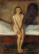 Puberty painting reproduction, Edvard Munch