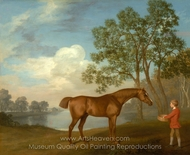 Pumpkin with a Stable-lad painting reproduction, George Stubbs