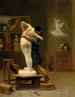 Pygmalion and Galatea painting reproduction, Jean-Leon Gerome
