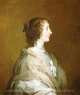 Queen Henrietta Maria painting reproduction, Sir Anthony Van Dyck