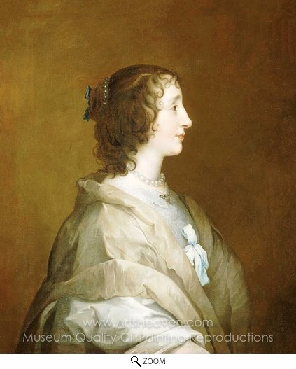 Sir Anthony Van Dyck, Queen Henrietta Maria oil painting reproduction