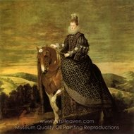 Queen Margarita on Horseback painting reproduction, Diego Velazquez