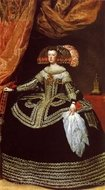 Queen Mariana painting reproduction, Diego Velazquez