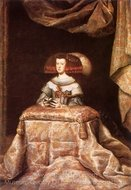 Queen Mariana Praying painting reproduction, Diego Velazquez