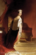 Queen Victoria painting reproduction, Thomas Sully