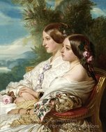 Queen Victoria and Her Cousin painting reproduction, Franz Xavier Winterhalter
