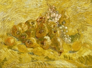 Quinces, Lemons, Pears and Grapes painting reproduction, Vincent Van Gogh