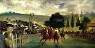Races at Longchamp painting reproduction, �douard Manet