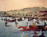 Races in the Bois de Boulogne painting reproduction, �douard Manet