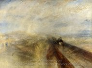 Rain, Steam and Speed, the Great Western Railway painting reproduction, Joseph M. W. Turner