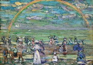 Rainbow painting reproduction, Maurice Prendergast