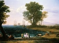 Rape of Europa painting reproduction, Claude Lorraine