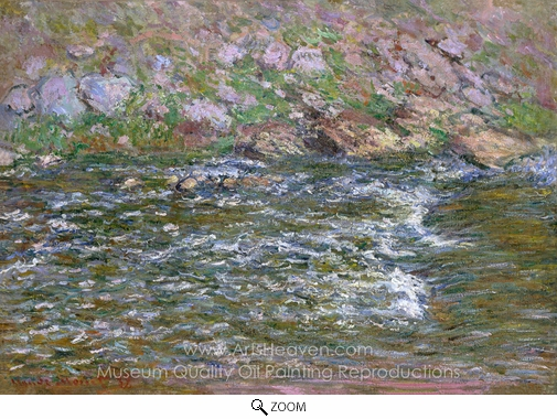 Claude Monet, Rapids on the Petite Creuse at Fresselines oil painting reproduction