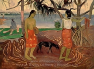 Raro te Oviri painting reproduction, Paul Gauguin