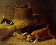 Rats amongst the Barley Sheaves painting reproduction, Thomas Hewes Hinckley