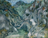 Ravine painting reproduction, Vincent Van Gogh