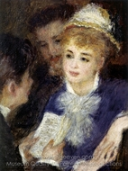 Reading the Part painting reproduction, Pierre-Auguste Renoir