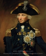 Rear-Admiral Sir Horatio Nelson painting reproduction, Lemuel Francis Abbott
