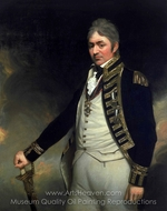 Rear-Admiral Sir Thomas Troubridge painting reproduction, Sir William Beechey