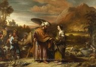 Rebekah and Eliezer at the Well painting reproduction, Gerbrand Van Den Eeckhout