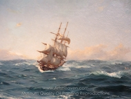 Recogiendo velas painting reproduction, Thomas Jacques Somerscales