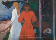 Red and White painting reproduction, Edvard Munch
