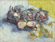 Still Life with Cabbages and Onions painting reproduction, Vincent Van Gogh