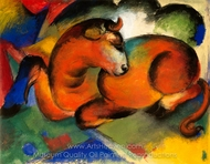 Red Goat painting reproduction, Franz Marc