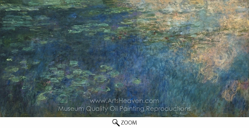 Claude Monet, Reflections of Clouds on the Water-Lily Pond oil painting reproduction