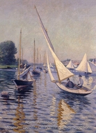 Regatta at Argenteuil painting reproduction, Gustave Caillebotte