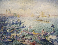 Regatta in Venice painting reproduction, Henri Edmond Cross