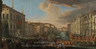 Regatta on the Grand Canal in Honor of Frederick IV, King of Denmark painting reproduction, Luca Carlevaris